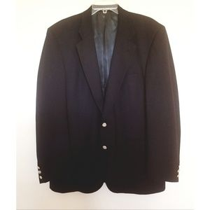 Burberry Navy Blue Super 100s Wool Jacket